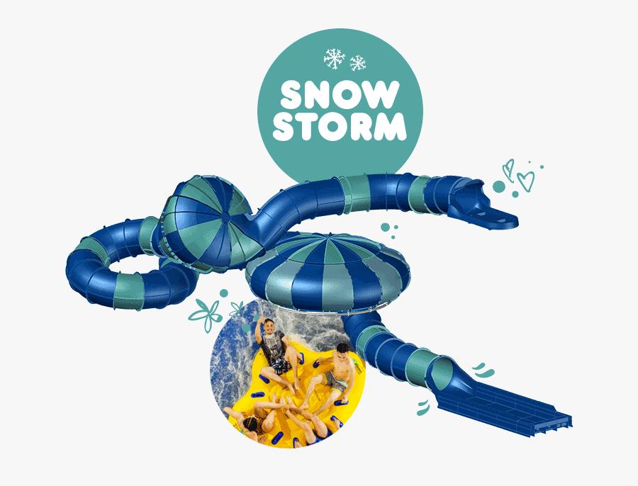 Alpamare Snow Storm Slide - Alpamare Scarborough Snow Storm, Transparent Clipart