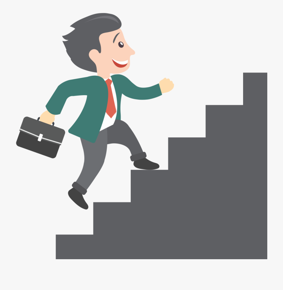 Animated Man Climbing Stairs , Transparent Cartoons - Animated Man Climbing Stairs, Transparent Clipart