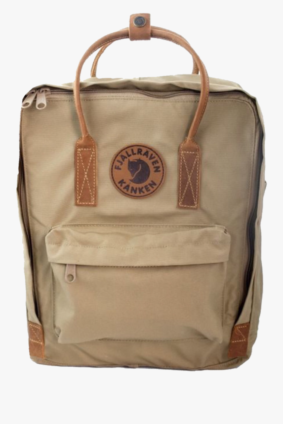 #brown #backpack #cute #aesthetic #overlay #edit #trendy - Fjällräven Kånken No.2, Transparent Clipart