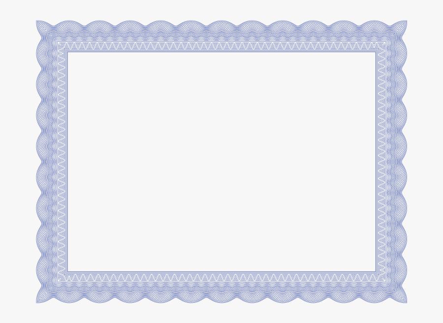Border For Certificates - Blue Certificate Border Png, Transparent Clipart