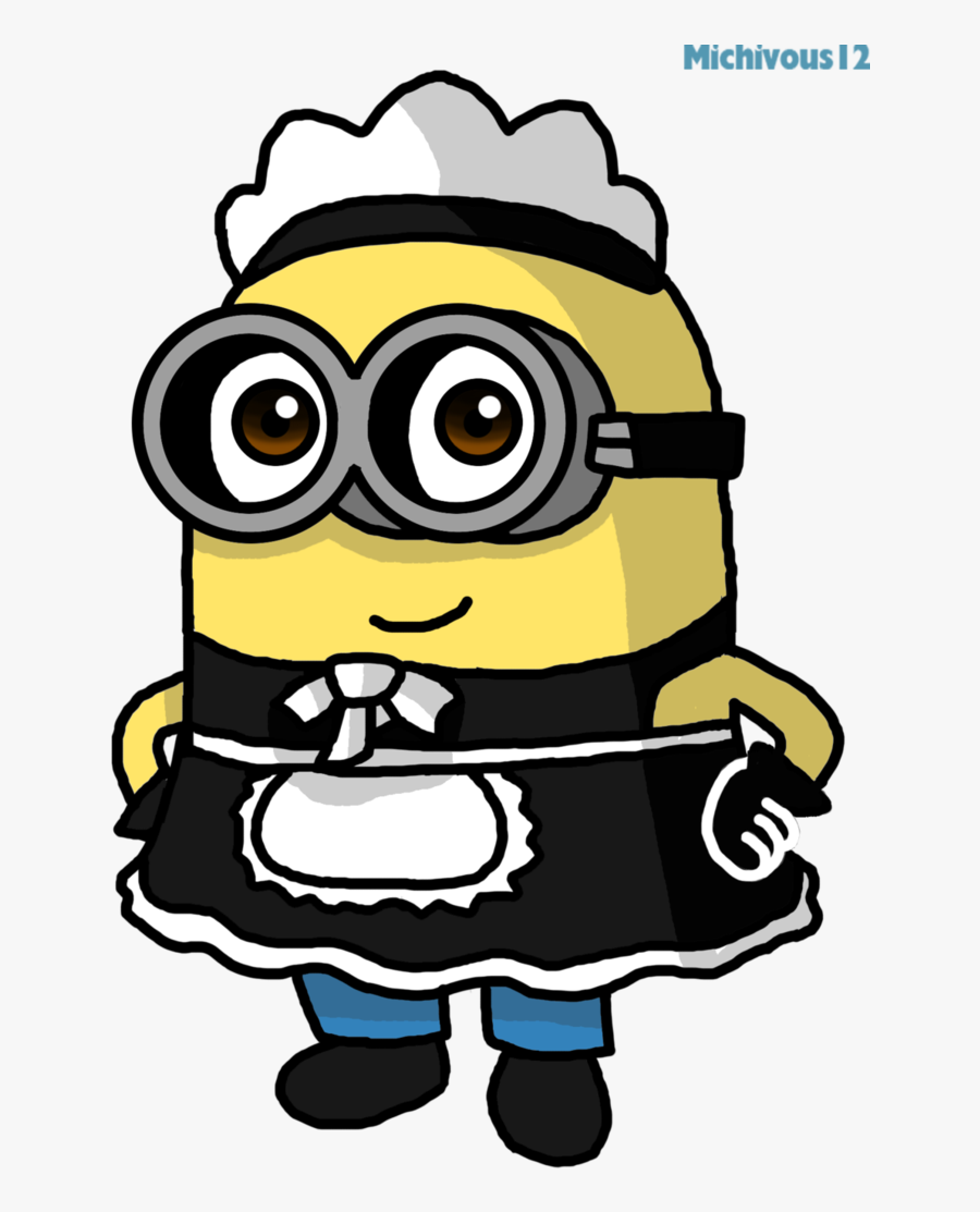 Maid Drawing Minion Clip Art Library Library - Minions Drawing, Transparent Clipart