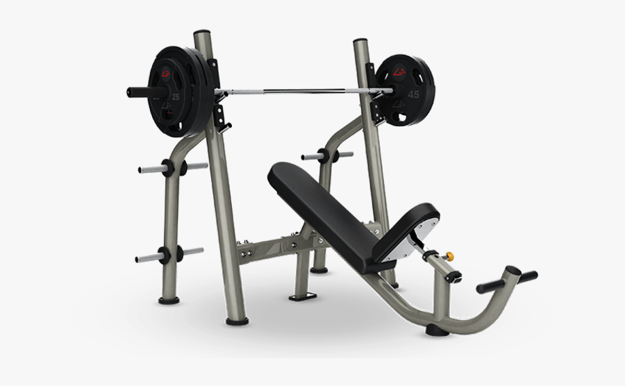 Transparent Bench Press Clipart - Olympic Upper Inclined Bench, Transparent Clipart