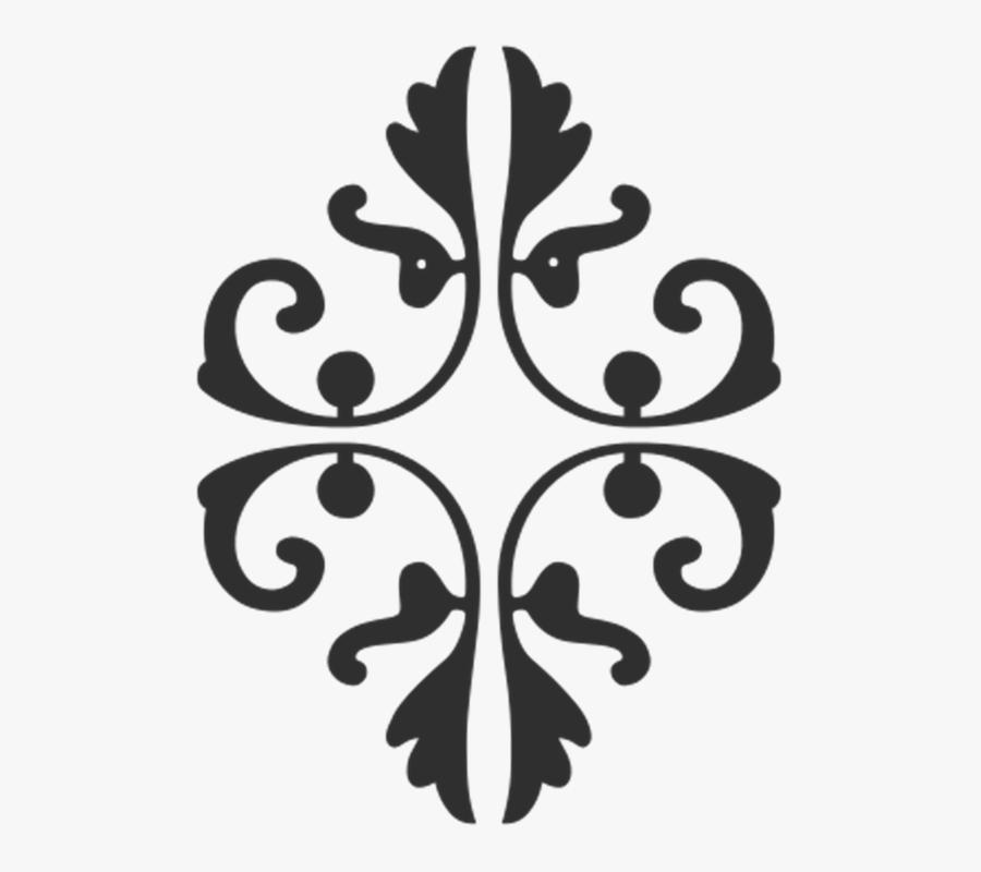 Decor, Motif, Decorative, Silhouette, Clip, Art, Black - Pattern Geometric Stencil Art, Transparent Clipart
