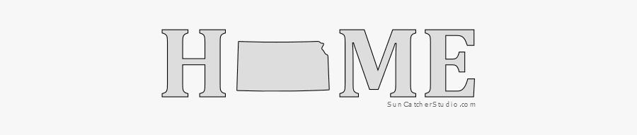 Kansas Home Stencil Pattern Shape State Clip Art Outline, Transparent Clipart