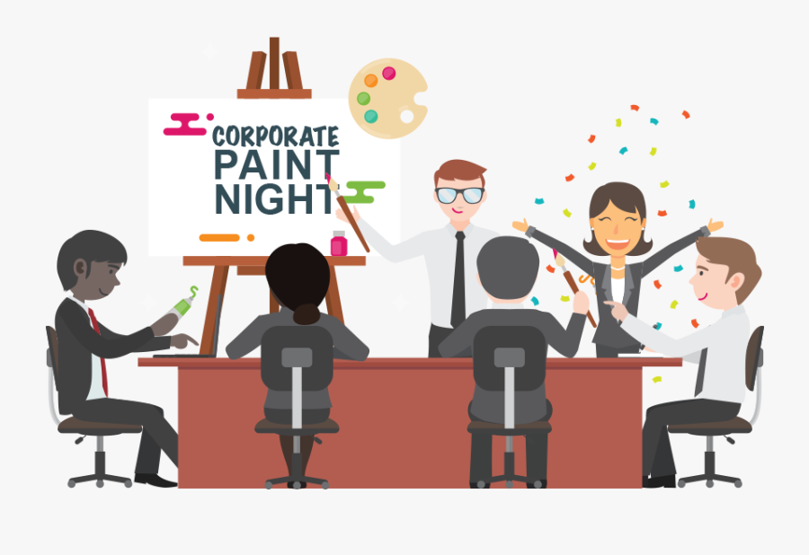 Corporate And Team Creative - Team Building Paint Night, Transparent Clipart