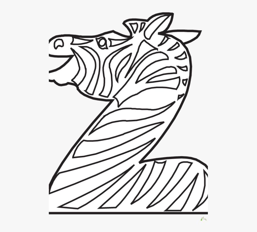 Animal Alphabet Coloring Pages Z, Transparent Clipart
