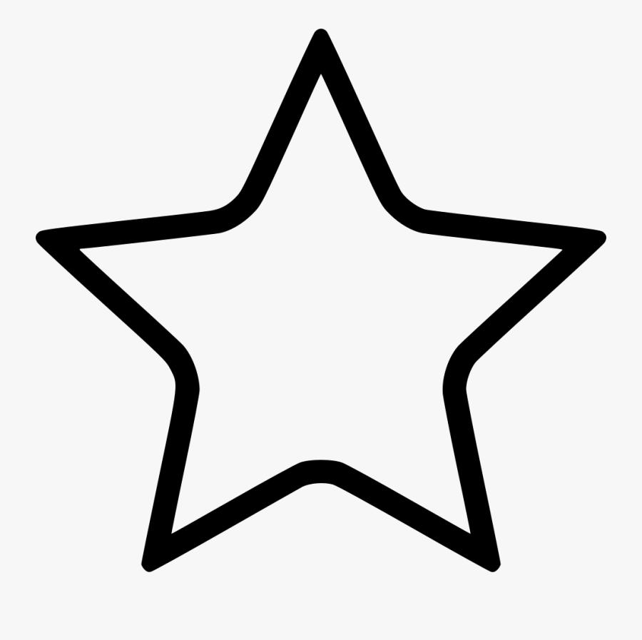 Star Icon Empty - Favorite Icon Ios, Transparent Clipart