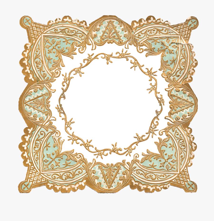 Border Frame Digital Download Crafting Supply Image - Decoration Border On Paper, Transparent Clipart