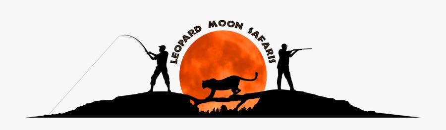 4 African Safari Animals Silhouettes - Leopard Moon Safaris, Transparent Clipart
