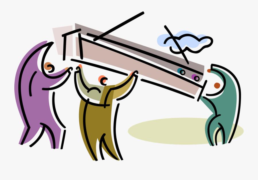 Vector Illustration Of Skilled Tradesmen Construction - Cartoon, Transparent Clipart