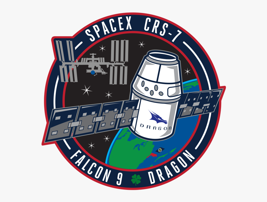 Credit - Spacex - Dragon Crew Patch Spacex, Transparent Clipart