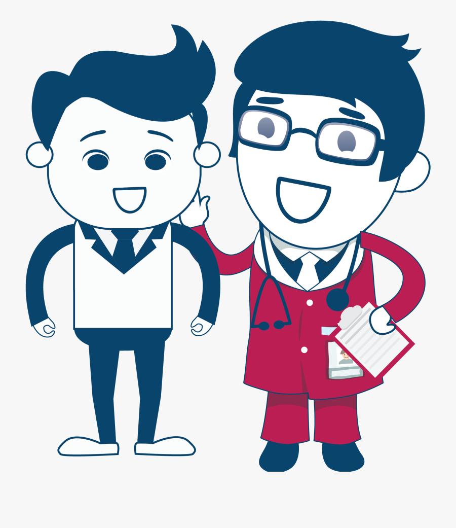 Talking Clipart Doctor - Cartoon, Transparent Clipart
