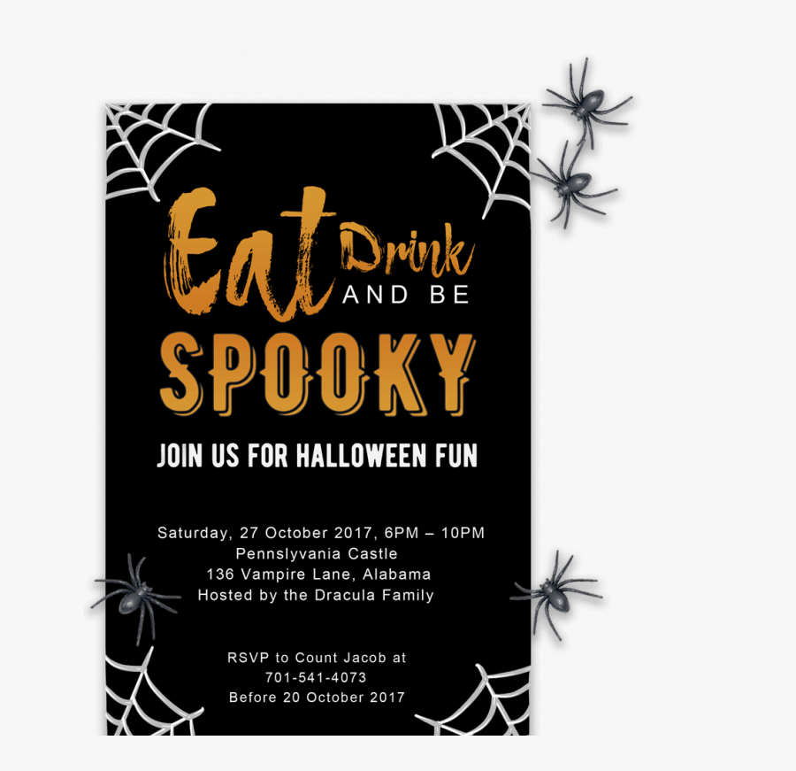 Halloween Party Invitation Template Free, Transparent Clipart
