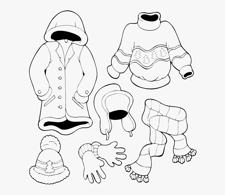 Coloring Pages For Clothes, Transparent Clipart