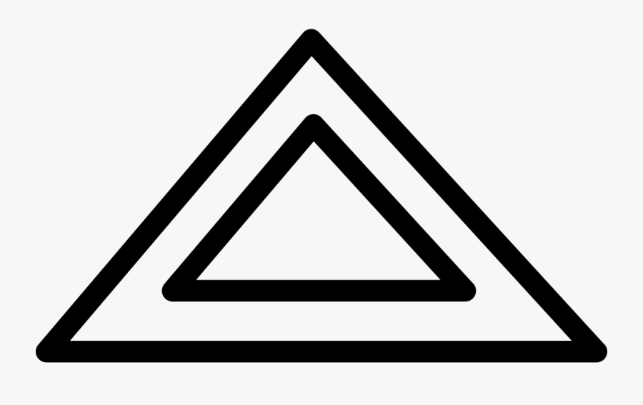 Triangular Shape Outline Svg Png Icon Free Download - Portable Network Graphics, Transparent Clipart