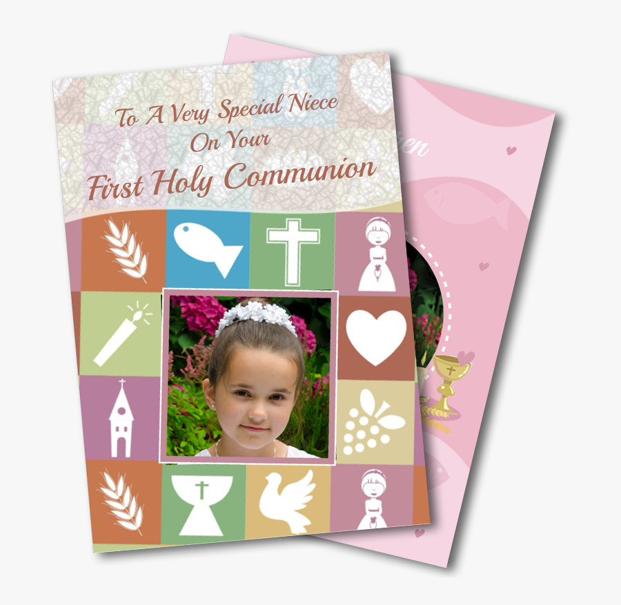 Communion Greeting Cards For Girls - Greeting Card, Transparent Clipart