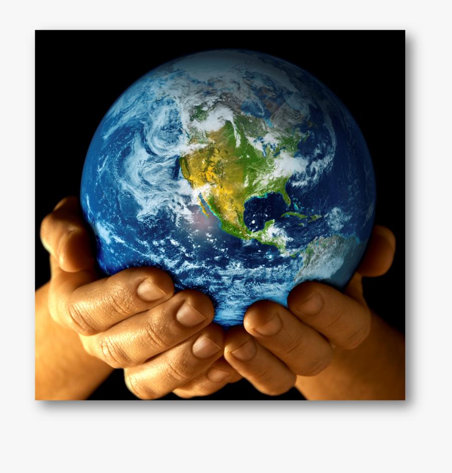 Clip Art Hand Holding Globe - Holding Earth In Hands, Transparent Clipart