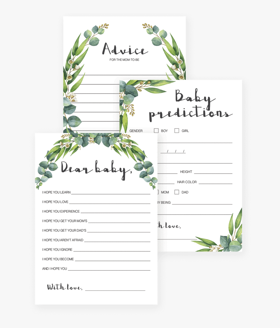 Baby Shower Game Printables Free Printable Baby Shower Prediction Free Transparent Clipart Clipartkey