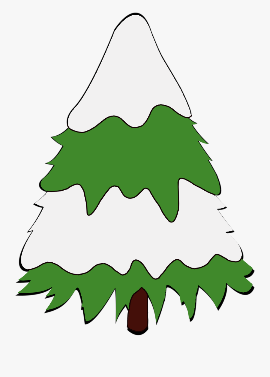 #christmas #christmastree #tree #snow #merrychristmas - Christmas Tree, Transparent Clipart