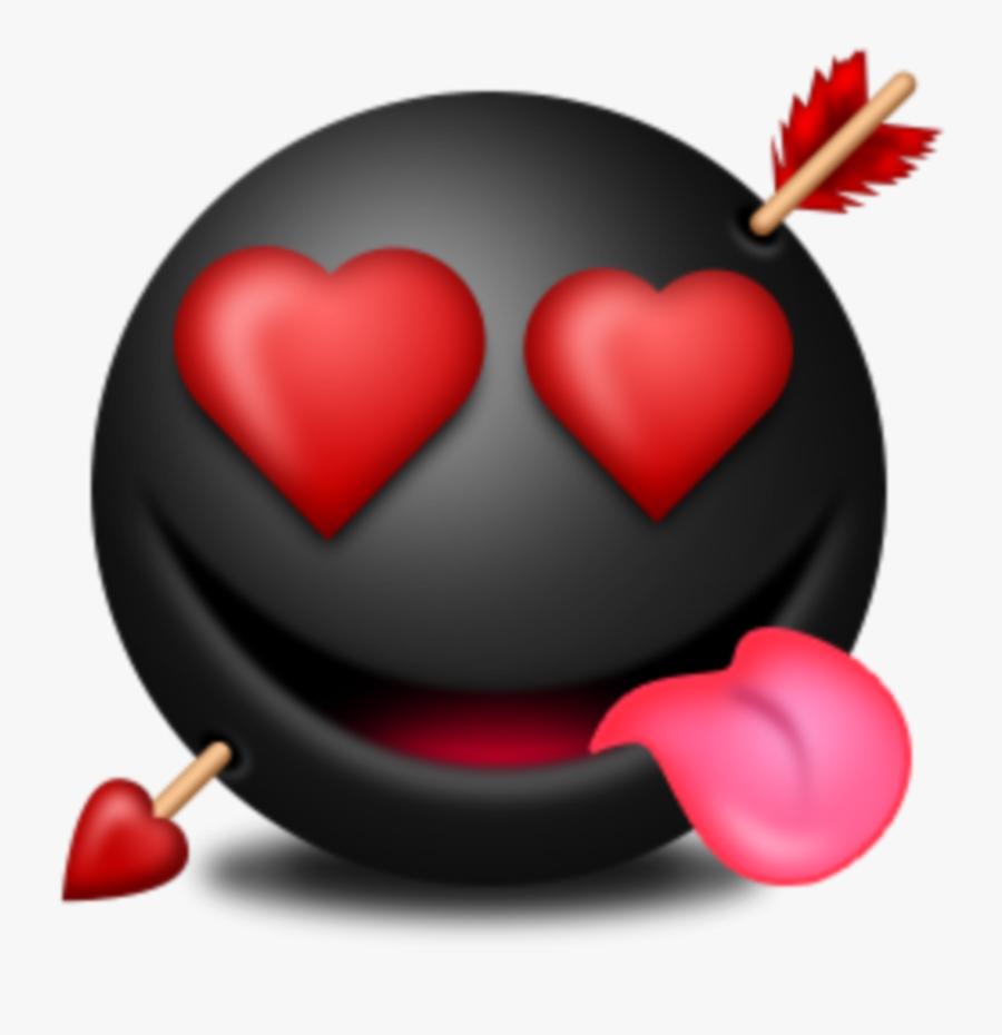 #mq #black #love #heart #hearts #emojis #emoji - Love Hearts Emoji, Transparent Clipart