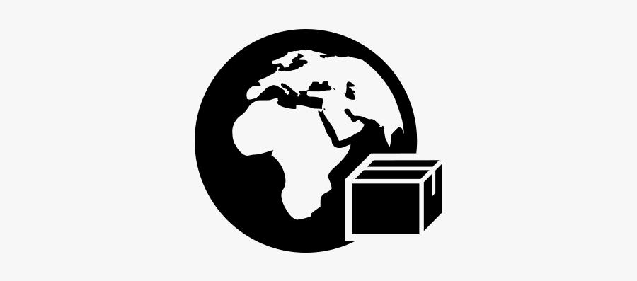 International Terrestrial Globe - Letter Sent International Icon, Transparent Clipart