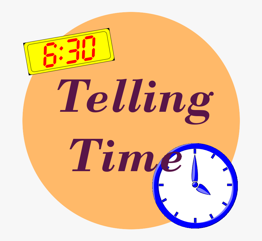 Telling Time Resources Teaching Time - Circle, Transparent Clipart