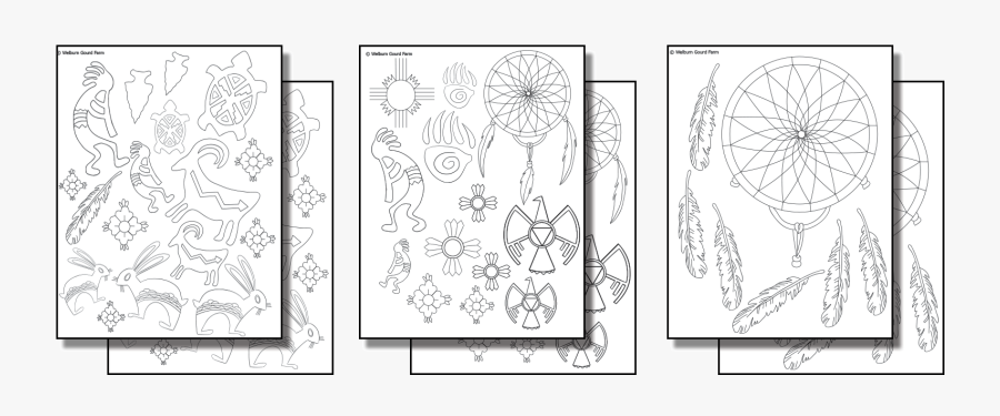 Native American Native Patterns For Gourds, Transparent Clipart