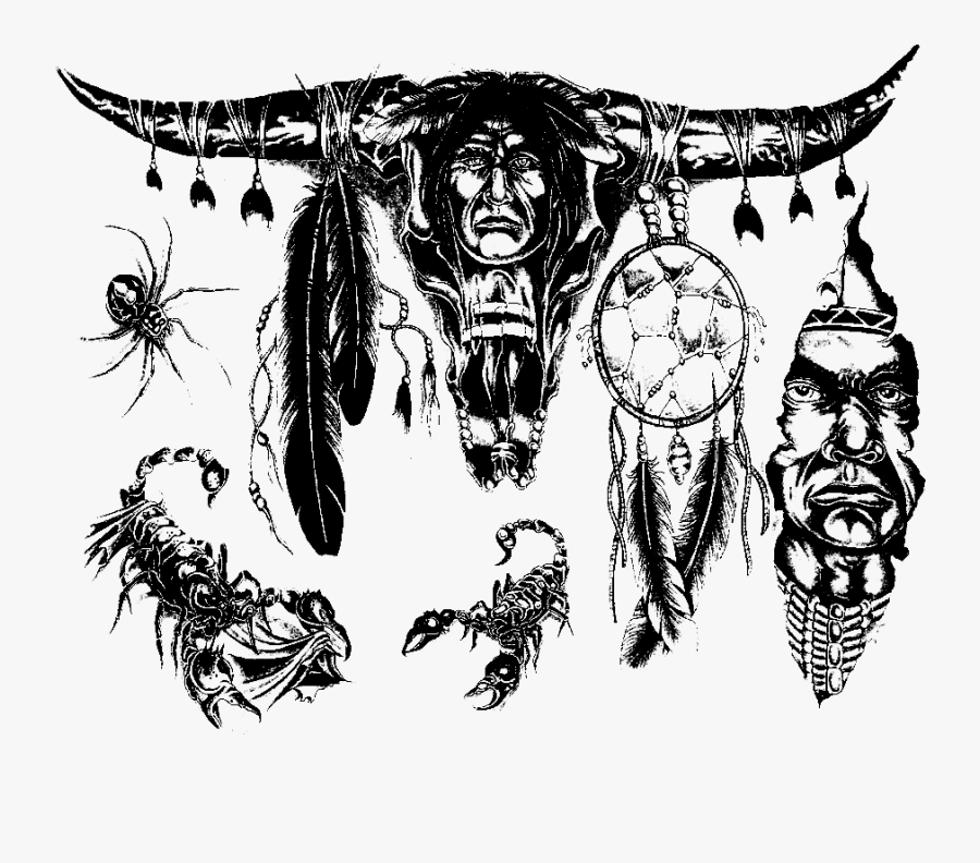 Tattoo Shape Mojo Shapes - Tribal Indian Warrior Tattoos, Transparent Clipart