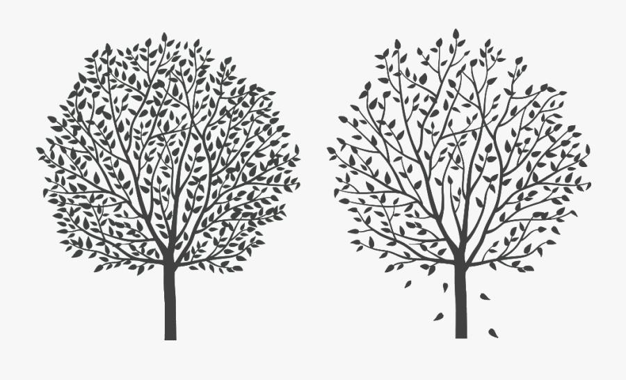 Tree Twig Silhouette Cartoon Line Art - Vector Graphics, Transparent Clipart