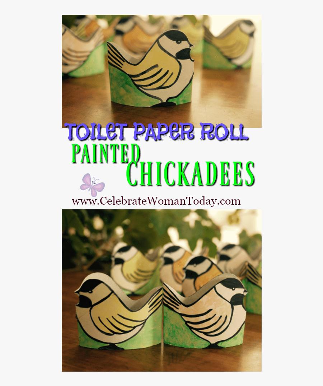 Toilet Paper Roll Painted Chickadees Pin - Fête De La Musique, Transparent Clipart