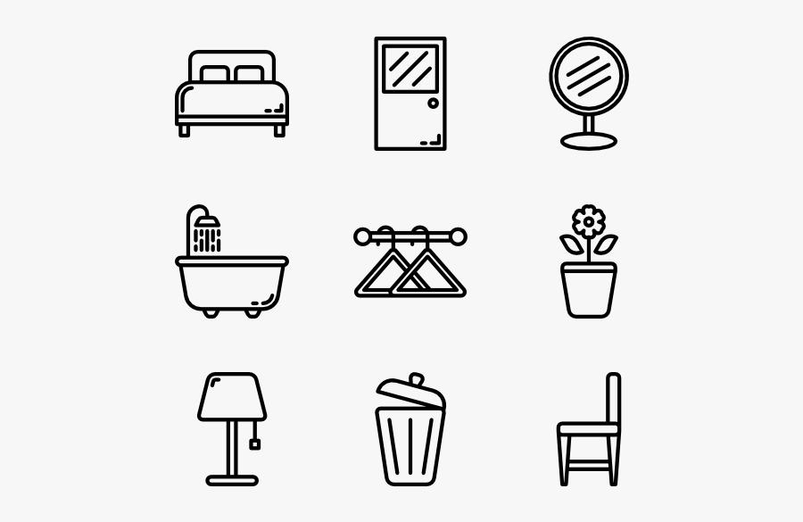 Home Decor Icons Png, Transparent Clipart