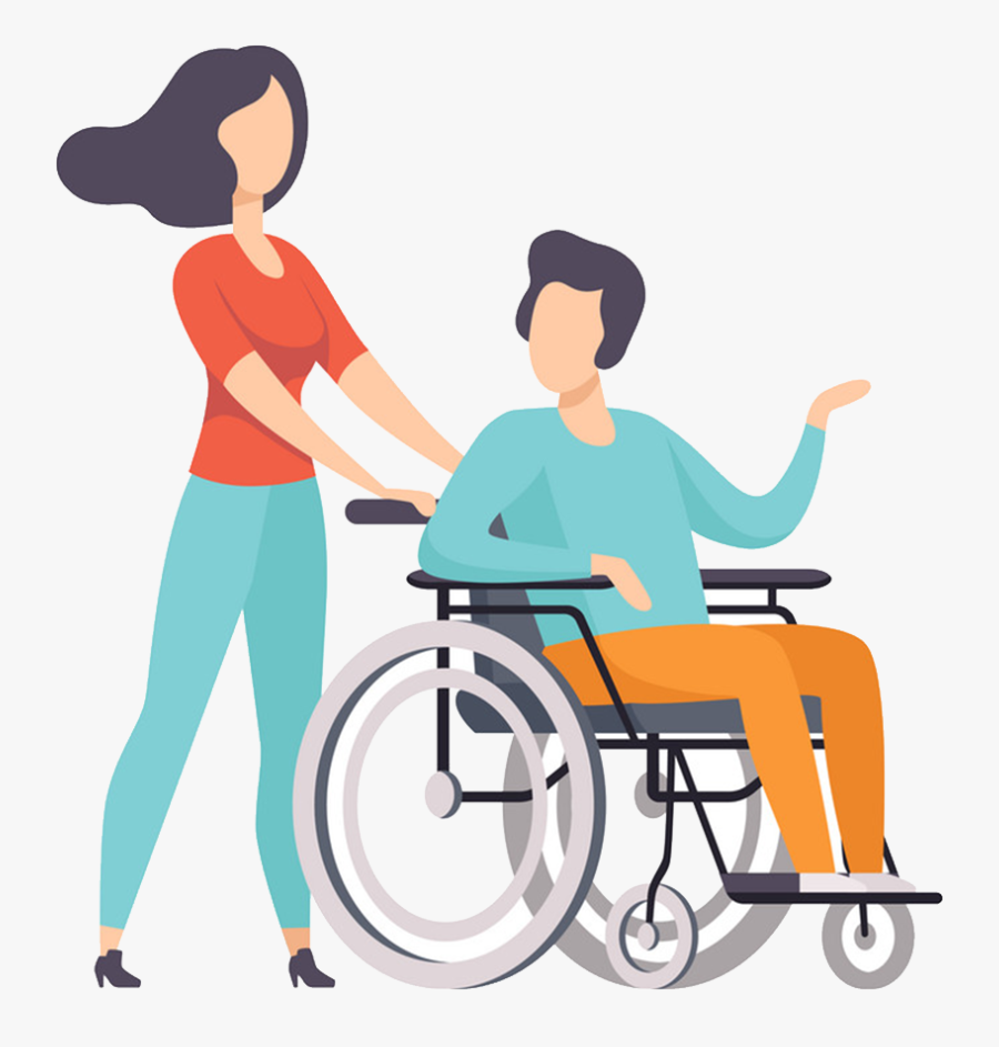 Transparent Person In Wheelchair Png - Wheel Chair Person Vector Png, Transparent Clipart