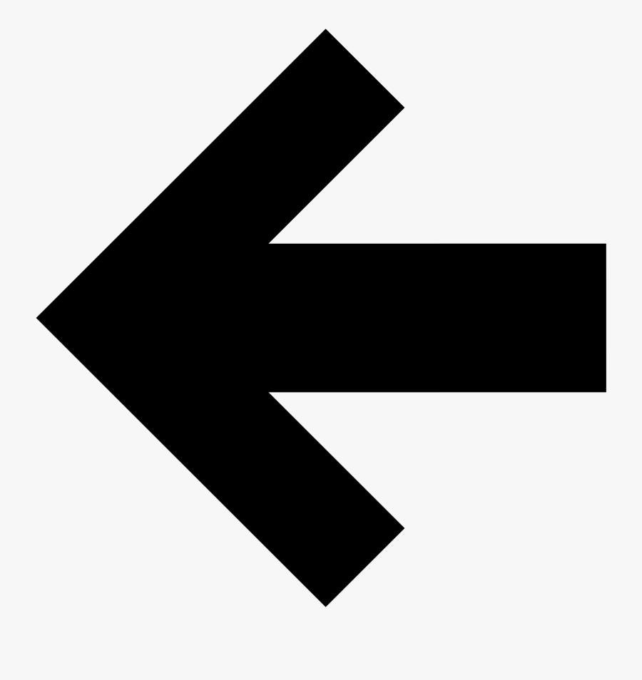 File Simpleicons Interface Arrow - Arrow Pointing Left, Transparent Clipart
