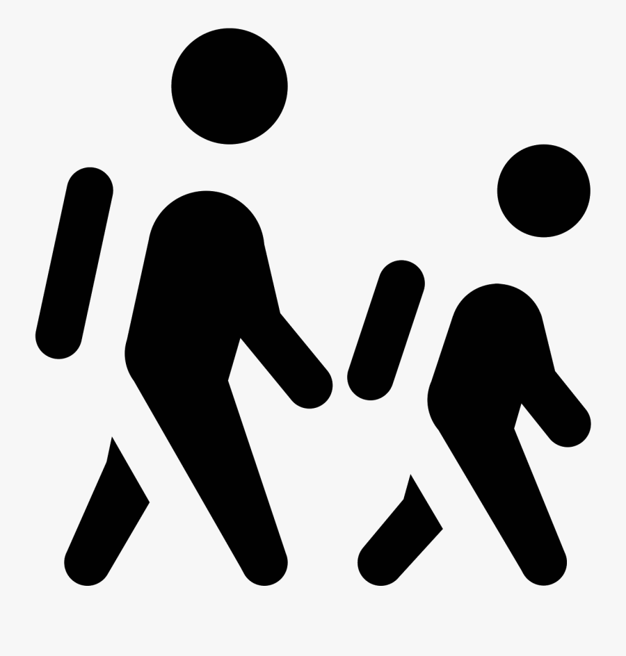Transparent Person Outline Png - Two People Walking Clipart, Transparent Clipart