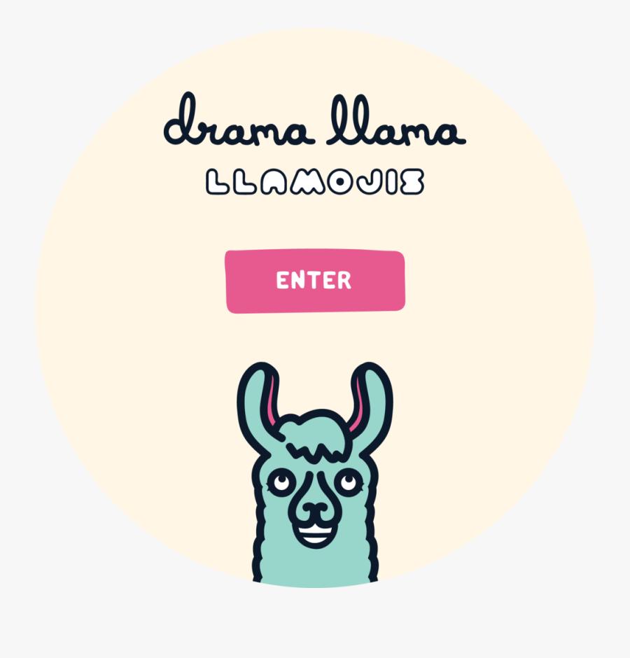 Llama Saying Png - Circle, Transparent Clipart