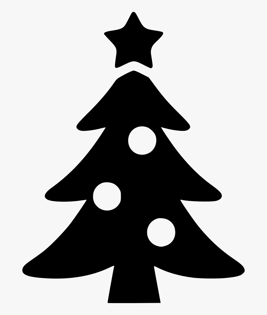 Western Svg Christmas - Christmas Tree Silhouette Vector, Transparent Clipart