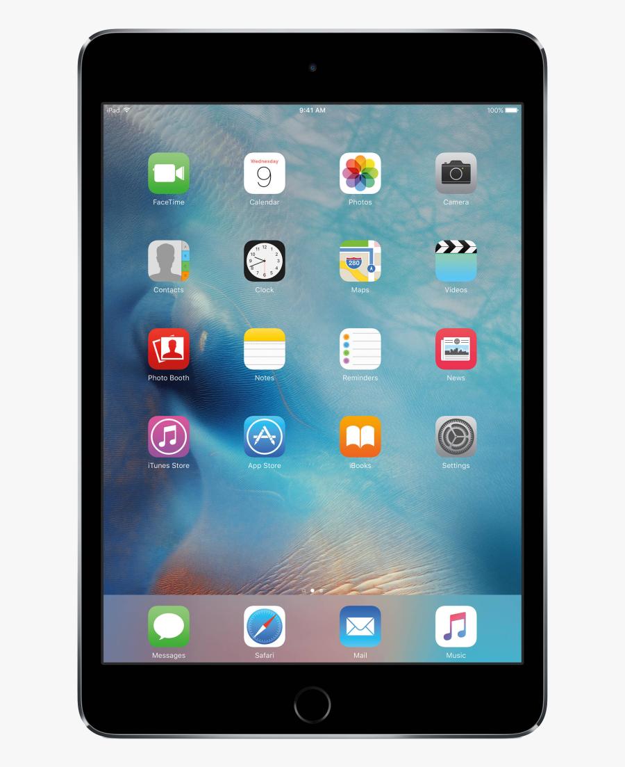 Pro Png Images Vector Transparent Background - Apple Ipad Mini 4 Black, Transparent Clipart