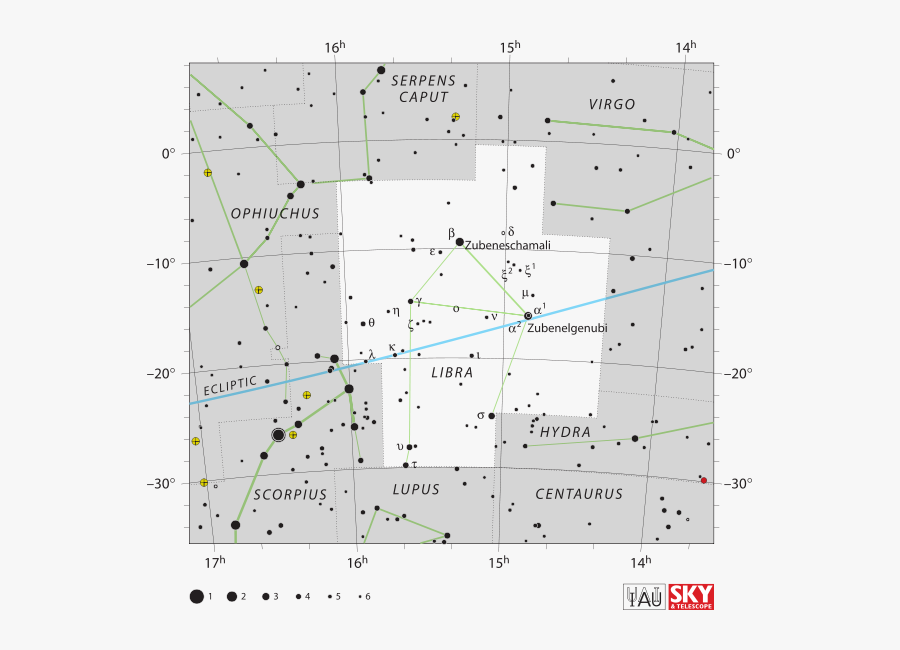 Picture Of Libra - Coma Berenices Star Chart, Transparent Clipart