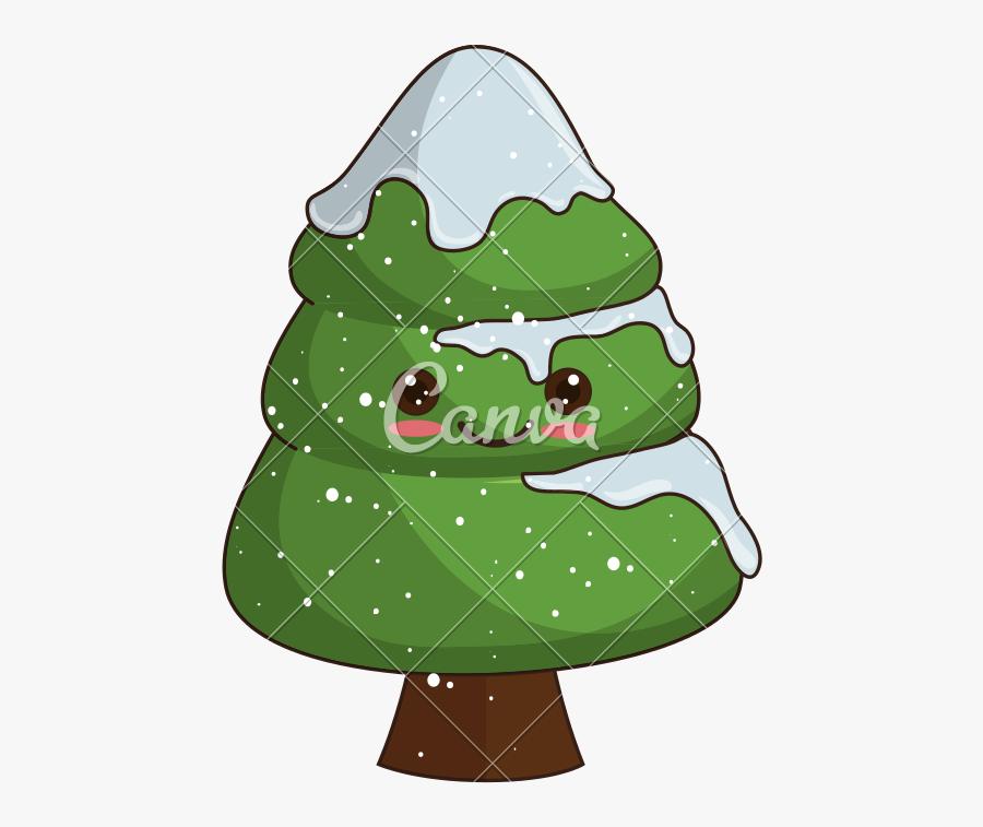 Kawaii Christmas Tree - Santa Claus Kawaii Png, Transparent Clipart
