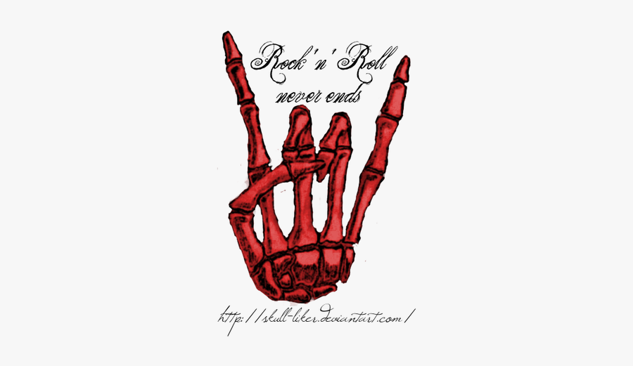 Red Rock N Roll Hand, Transparent Clipart