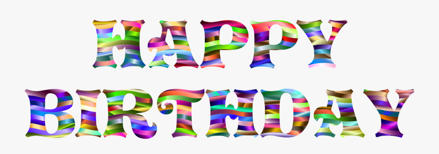 Text,party Supply,line - Chữ Happy Birthday Nghệ Thuật, Transparent Clipart