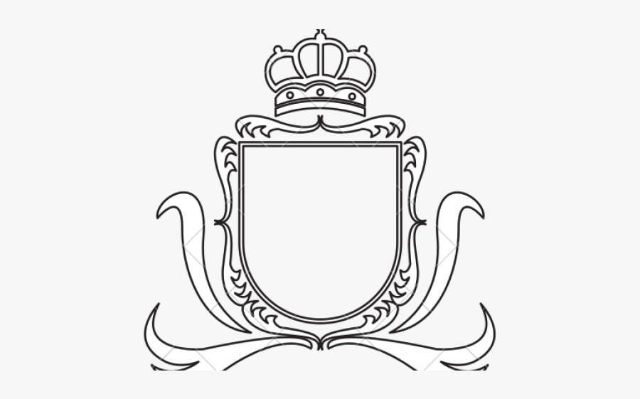 Clip Art Collection Free Drawing Template - Plain Coat Of Arms Template, Transparent Clipart