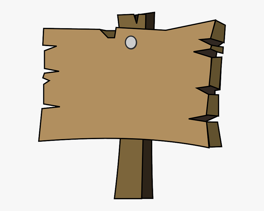 """Download """"the Slp Is In - Cartoon Wooden Sign, Transparent Clipart"""