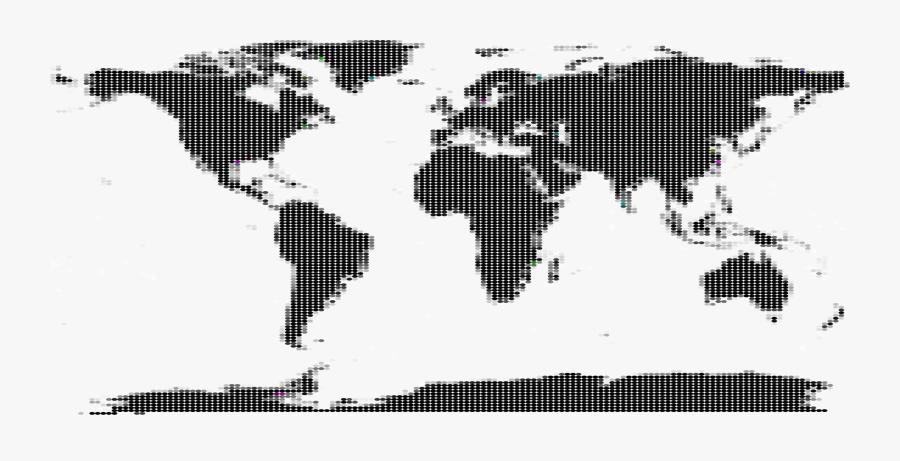 Graphic Design,silhouette,art - Silhouette World Map Simple, Transparent Clipart