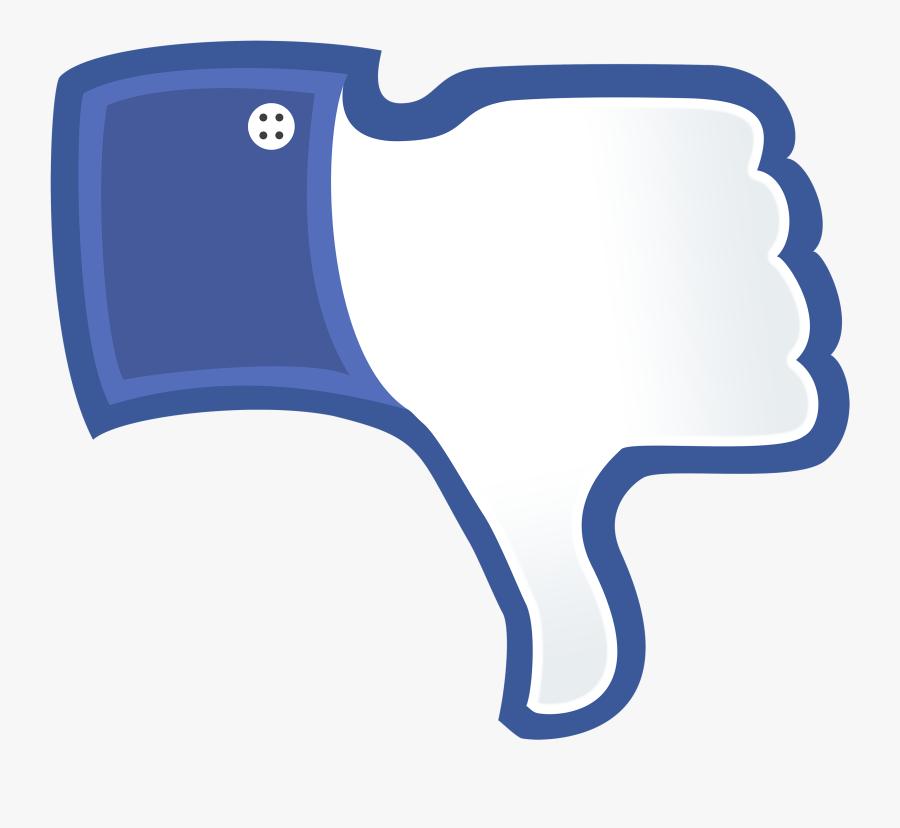 Social Media Facebook Like Button Thumb Signal Blog - Facebook Thumbs Down Png, Transparent Clipart