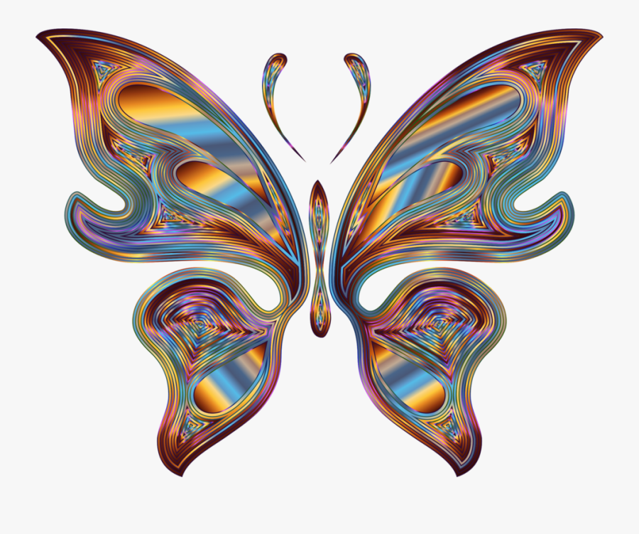 Rainbow Butterfly Png Png, Transparent Clipart