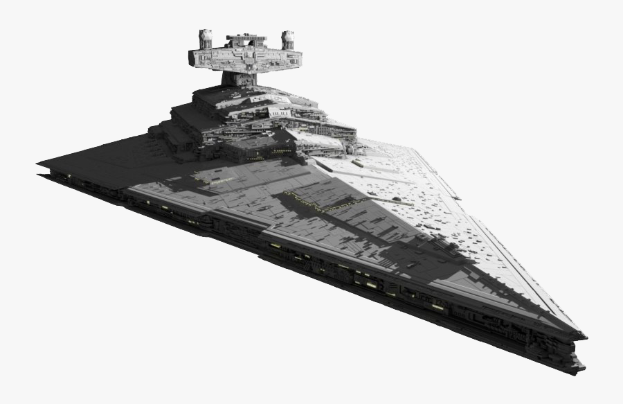 Star Destroyer Transparent Background, Transparent Clipart