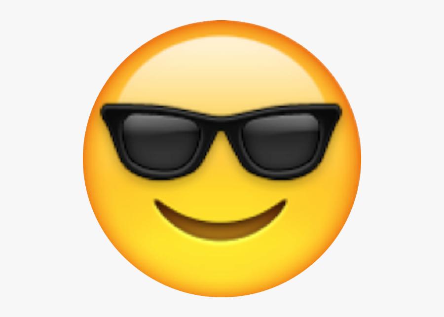Transparent High Five Emoji Png - Sunglasses Emoji, Transparent Clipart