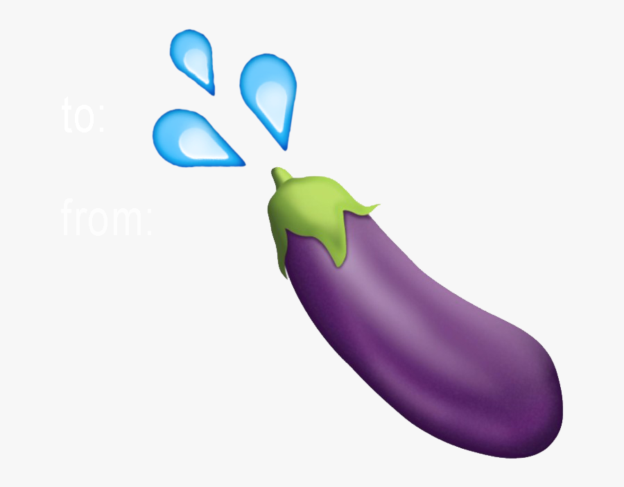 Transparent Eggplant Emoji Png - Eggplant Emoji Transparent Background, Transparent Clipart