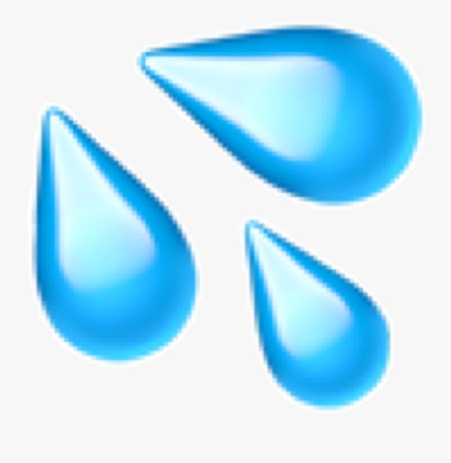 Water Emoji Png - Sweat Droplets Emoji, Transparent Clipart